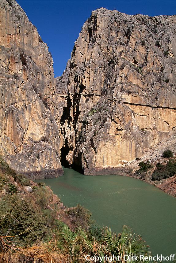 Schlucht von El Chorro, Andalusien, Spanien