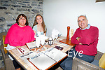 Enjoying the evening in Bella Bia on Thursday, l to r: Catherine, Emma and Ian Richardson.