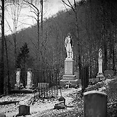Sarah Ann, West Virginia.USA .January 17, 2005..Captain William Anderson (Devil Anse) Hatfield's grave was dedicated as a national monument in December of 1995. Devil formed a band of guerilla's in 1863 that began the infamous American feud between the Hatfield and McCoy families which end around 1891, the death toll numbered 13.