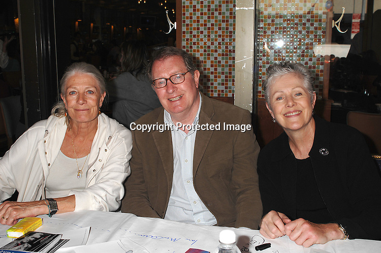 Vanessa Redgrave, Corin Redgrave and Lynn Redgrave..posing for photos at The 21st Annual Broadway Flea Market and Grand Auction benefitting Broadway Cares/..Equity Fights Aids on September 23, 2007 in Shubert Alley. ....Photo by Robin Platzer, Twin Images......212-935-0770