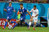 Cristian Gamboa of Costa Rica has an early shot on goal