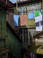 Historische Hofhäuser bei der Kote Apkhazi, Tiflis – Tbilissi, Georgien, Europa<br /> Historical courtyard houses near Kote Abkhazi, Tbilisi, Georgia, Europe