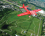 World renouned air show pilot and enshrinee in the National Aviation Hall of Fame, Sean D. Tucker, flies over the Miami County Park District Hobart Urban Nature Reserve in Troy on Wednesday with WDTN reporter Catherine Ross as the Miami Valley gears up for the 2017 Vectren Dayton Air Show this Saturday and Sunday at the Dayton International Airport.