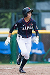 #24 Ikemoto Ayuri of Japan runs after bat during the BFA Women's Baseball Asian Cup match between Pakistan and Japan at Sai Tso Wan Recreation Ground on September 4, 2017 in Hong Kong. Photo by Marcio Rodrigo Machado / Power Sport Images