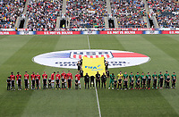 Chester, PA - Monday May 28, 2018: USMNT and Bolivia starting line ups during an international friendly match between the men's national teams of the United States (USA) and Bolivia (BOL) at Talen Energy Stadium.