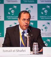 13-09-12, Netherlands, Amsterdam, Tennis, Daviscup Netherlands-Swiss,  Draw, Ismail el Shafei ITF