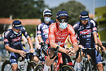 Swiss Champion Silvan Dillier (SUI) and Alpecin Fenix at sign on before Stage 15 of the 2021 Tour de France, running 191.3km from Ceret to Andorre-La-Vieille, France. 11th July 2021.  <br /> Picture: A.S.O./Pauline Ballet | Cyclefile<br /> <br /> All photos usage must carry mandatory copyright credit (© Cyclefile | A.S.O./Pauline Ballet)
