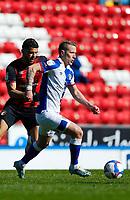 5th April 2021; Ewood Park, Blackburn, Lancashire, England; English Football League Championship Football, Blackburn Rovers versus Bournemouth; Lewis Holtby of Blackburn Rovers