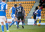 St Johnstone v Ross County…24.02.18…  McDiarmid Park    SPFL<br />Murray Davidson scores his first goal<br />Picture by Graeme Hart. <br />Copyright Perthshire Picture Agency<br />Tel: 01738 623350  Mobile: 07990 594431