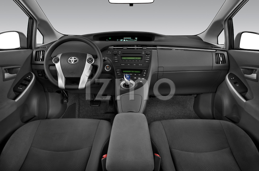 Straight dashboard view of a 2010 Toyota Prius 2.