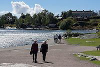 Küste bei Kaivopuisto, Helsinki, Finnland