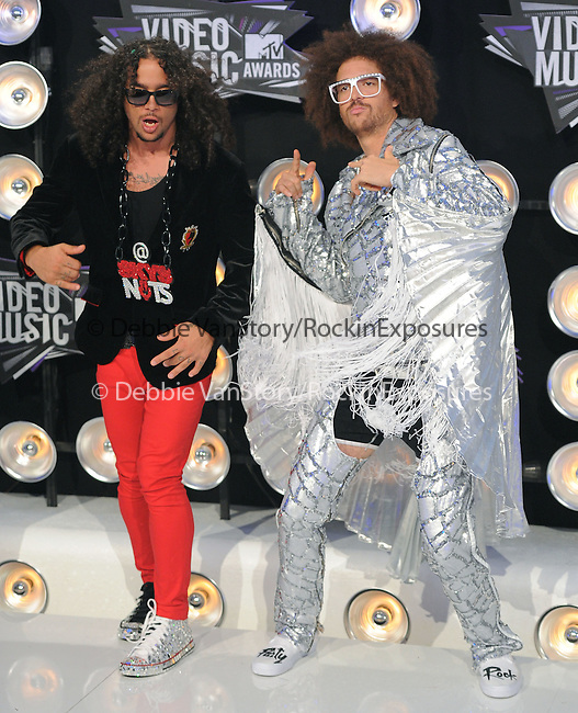 LMFAO at The 2011 MTV Video Music Awards held at Nokia Theatre L.A. Live in Los Angeles, California on August 28,2011                                                                   Copyright 2011  DVS / Hollywood Press Agency