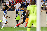 Harrison, NJ - Friday July 07, 2017: Rodney Wallace, Luis López during a 2017 CONCACAF Gold Cup Group A match between the men's national teams of Honduras (HON) vs Costa Rica (CRC) at Red Bull Arena.