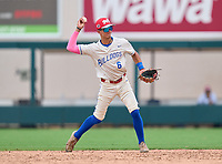 Braddock Bulldogs Jose Hernandez (6) during the 42nd Annual FACA All-Star Baseball Classic on June 5, 2021 at Joker Marchant Stadium in Lakeland, Florida.  (Mike Janes/Four Seam Images)