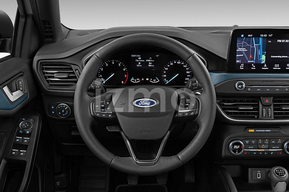 Car pictures of steering wheel view of a 2019 Ford Focus Active 5 Door Hatchback Steering Wheel