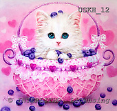 Kayomi, CUTE ANIMALS, paintings, BlueberryBasket_M, USKH12,#AC# illustrations, pinturas ,everyday