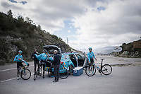 Team Astana preparing for the 2017 season on the Coll de Rates (alt 626m/Alicante/Spain) in january