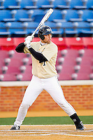 Mac Williamson #7 of the Wake Forest Demon Deacons at bat against the Georgetown Hoyas at Wake Forest Baseball Park on February 26, 2012 in Winston-Salem, North Carolina.  The Demon Deacons defeated the Hoyas 5-2.  (Brian Westerholt / Four Seam Images)