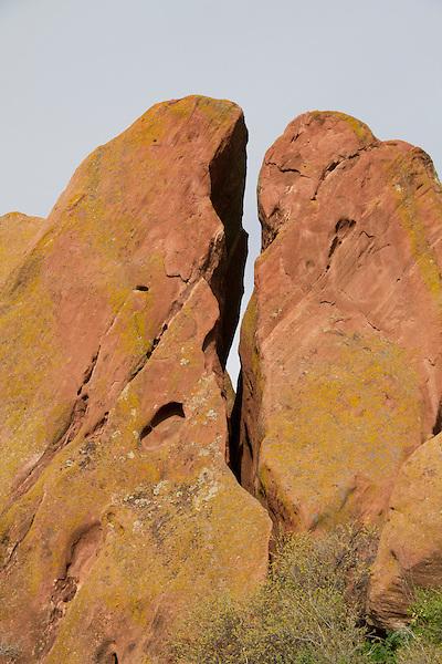 Sandstone crack in Red Rocks State Park, Colorado