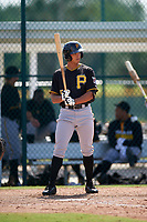 Pittsburgh Pirates Justin Maffei (55) during a minor league Spring Training intrasquad game on April 3, 2016 at Pirate City in Bradenton, Florida.  (Mike Janes/Four Seam Images)