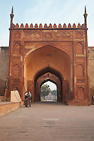 Agra, India.  Interior Gate, inside Agra Fort, 16th-century.