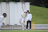 Will Somerville bowls during day three of the Plunket Shield match between the Wellington Firebirds and Auckland Aces at the Basin Reserve in Wellington, New Zealand on Monday, 16 November 2020. Photo: Dave Lintott / lintottphoto.co.nz