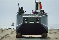 - armored amphibious vehicle  LVTP of the Lagunari battalion  in training on the Venice beach....- veicolo corazzato anfibio  LVTP del battaglione Lagunari in addestramento sulla spiaggia del Lido di Venezia
