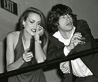 Jagger Hall6836.JPG<br /> New York, NY 1978 FILE PHOTO<br /> Mick Jagger, Jerry Hall<br /> Studio 54<br /> Digital photo by Adam Scull-PHOTOlink.net<br /> ONE TIME REPRODUCTION RIGHTS ONLY<br /> NO WEBSITE USE WITHOUT AGREEMENT<br /> 718-487-4334-OFFICE  718-374-3733-FAX