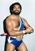 **FILE PHOTO** Dominican Wrestler Jack Veneno Has Passed Away.  Veneno's claim to fame was winning against Ric Flair in 1982.<br /> <br /> <br /> Jack Veneno Circa 1980. Credit: George Napolitano/MediaPunch