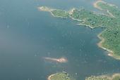 Tucurui, Para State. Tucurui reservoir with dead trees.