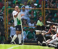 Charlie Davies celebrates his goal. .USA Men's National Team loses to Mexico 2-1, August 12, 2009 at Estadio Azteca, Mexico City, Mexico. .   .