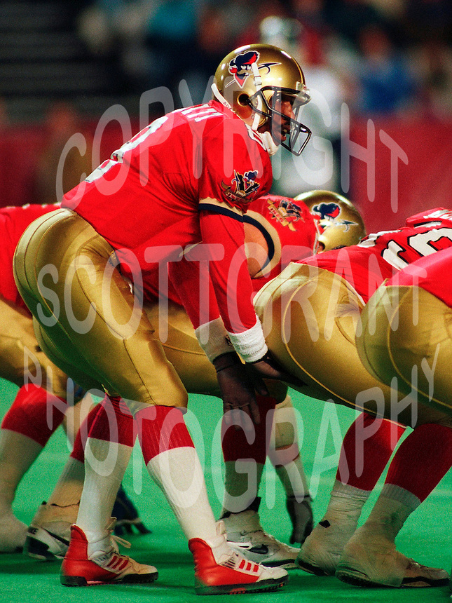 Danny Barrett Ottawa Rough Riders. Copyright photograph Scott Grant