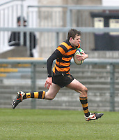 CAI vs RBAI | Tuesday 3rd March 2015<br /> <br /> Callum McLaughlin runs in to score during the 2015 Ulster Schools Cup Semi-Final between Coleraine Inst and RBAI at the Kingspan Stadium, Ravenhill Park, Belfast, Northern Ireland.<br /> <br /> Picture credit: John Dickson / DICKSONDIGITAL