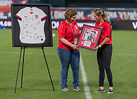 St. Louis, MO - May 16, 2019:  The women's national team of the United States (USA) defeated New Zealand (NZL) 5-0 during an international friendly match at Busch Stadium.