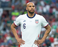 DENVER, CO - JUNE 6: John Brooks #6 of the United States during a game between Mexico and USMNT at Mile High on June 6, 2021 in Denver, Colorado.
