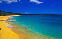 "Beautiful Makena """"big beach"""" on a sunny day, island of Maui"