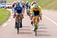 2nd July 2021; Le Creusot, France;   ERVITI Imanol (ESP) of MOVISTAR TEAM and VAN DER POEL Mathieu (NED) of ALPECIN - FENIX during stage 7 of the 108th edition of the 2021 Tour de France cycling race, a stage of 249,1 kms between Vierzon and Le Creusot