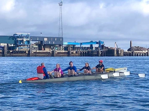Olderfleet Rowing Club, which has members of all ages, trains Mondays, Wednesdays, Saturdays and Sundays on Larne Lough and the open sea