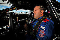 Oct. 31, 2008; Las Vegas, NV, USA: NHRA pro stock driver Jason Line during qualifying for the Las Vegas Nationals at The Strip in Las Vegas. Mandatory Credit: Mark J. Rebilas-