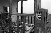 Ruined gas station, 1987.   &#xA;<br />