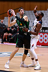 Liga ENDESA 2019/2020. Game: 07.<br /> Club Joventut Badalona vs TD Systems Baskonia: 83-82.<br /> Ante Tomic vs Tonye Jekiri.