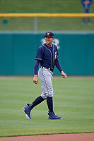 Toledo Mud Hens center fielder JaCoby Jones (21) before a game against the Indianapolis Indians on May 2, 2017 at Victory Field in Indianapolis, Indiana.  Indianapolis defeated Toledo 9-2.  (Mike Janes/Four Seam Images)