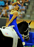 8 October 2010: Alicen Divita (USA) performs during the Vaulting Techincals in the World Equestrian Games in Lexington, Kentucky