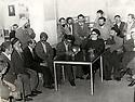 Iran 1979  March 21 1979, in Sanandaj, Kurdistan, from right to left, 3 religious sent by Khomeini to negiotate with the Kurds, Akbar Hashemi Rafsanjani, Muhammad Behesti and Mahmoud Taleghani. Behind, standing left with a camera, Abbas Attar, Franco-Iranian photographer       Iran 1979  21 mars 1979, a Sanandaj, de droite a gauche, 3 religieux envoyés par Khomeini pour négotier avec les kurdes, Akbar Hashemi Rafsanjani, Muhammad Behesti and Mahmoud Taleghani. Derriere debout avec un appareil photo, Abbas Attar, photographe franco-iranien