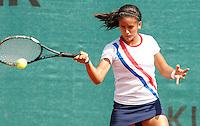 Tenis, World Championship U-14.Paraguay-Czezh Republic.Sara Gimenez Vs. Kristyna Rouckova.Sara Gimenez, returnes.Prostejov, 02.08.2010..foto: Srdjan Stevanovic/Starsportphoto ©