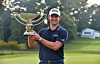 5th September 2021: Atlanta, Georgia, USA;  Patrick Cantlay holds the FedEx Cup trophy after winning the PGA Tour Championship on Sunday, September 5, 2021 at East Lake Golf Club in Atlanta, GA. (Photo by Austin McAfee/Icon Sportswire)