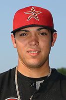 Greeneville Astros catcher Ralph Henriquez at American Legion Field in Danville, VA, Saturday, July 1, 2006.