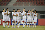Japan vs DPR Korea during the 2014 AFC U19 Mens Championship Quarter Finals match on October 17, 2015 at the Wunna Theikdi Stadium in Nay Pyi Taw, Myanmar. Photo by World Sport Group