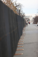 WASHINGTON, D.C. - JANUARY 8: Police and National Guard stand watch over the United States Capitol building which now stands complete with non-scalable fencing and concrete barriers to prevent re-entry to the building after a mob of Donald Trump supporters rushed the US Capitol 2 days prior. Washington, D.C. on January 8, 2021. <br /> CAP/MPI34<br /> ©MPI34/Capital Pictures