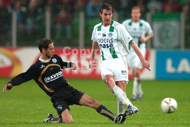 groningen - sparta  eredivisie seizoen 2007-2008 29-09- 2007 lindenbergh met lovre *** Local Caption ***